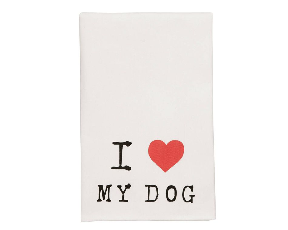 Mud Pie Dog Heart Dish Towel