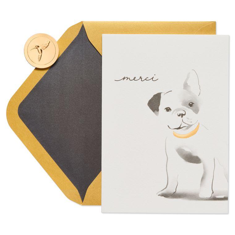 French Bulldog Thank You Greeting Card