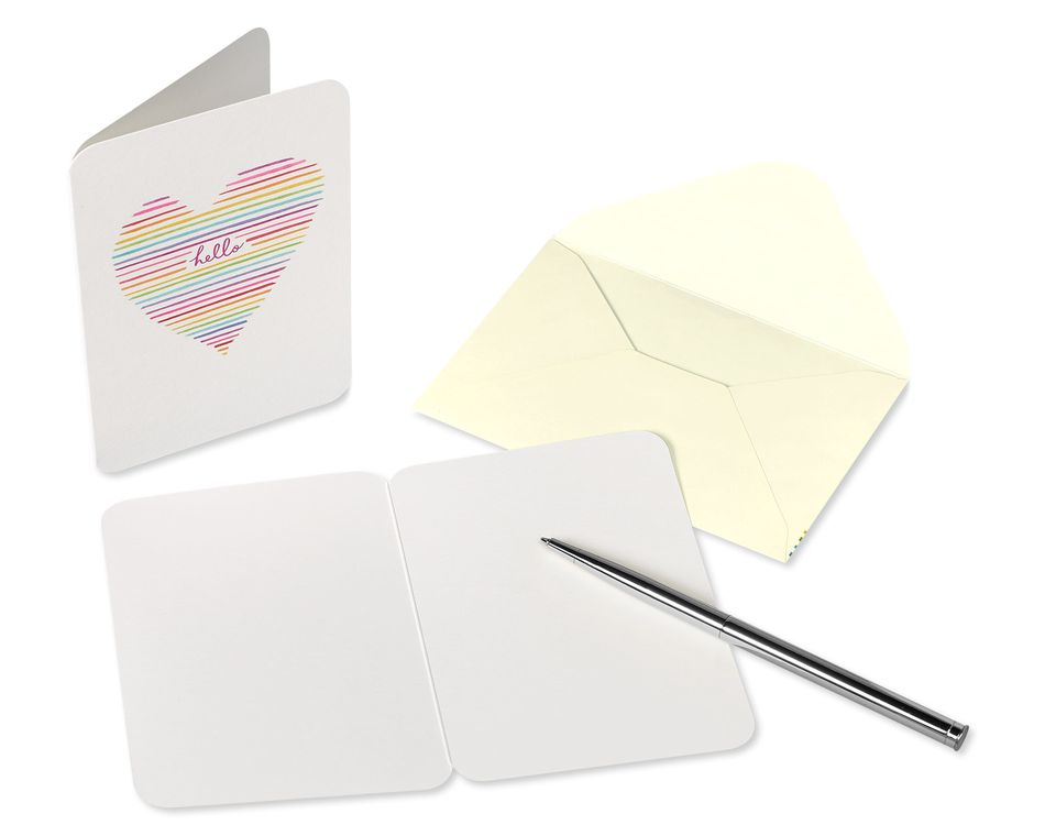 Heart Boxed Blank Note Cards with Envelopes, 14-Count