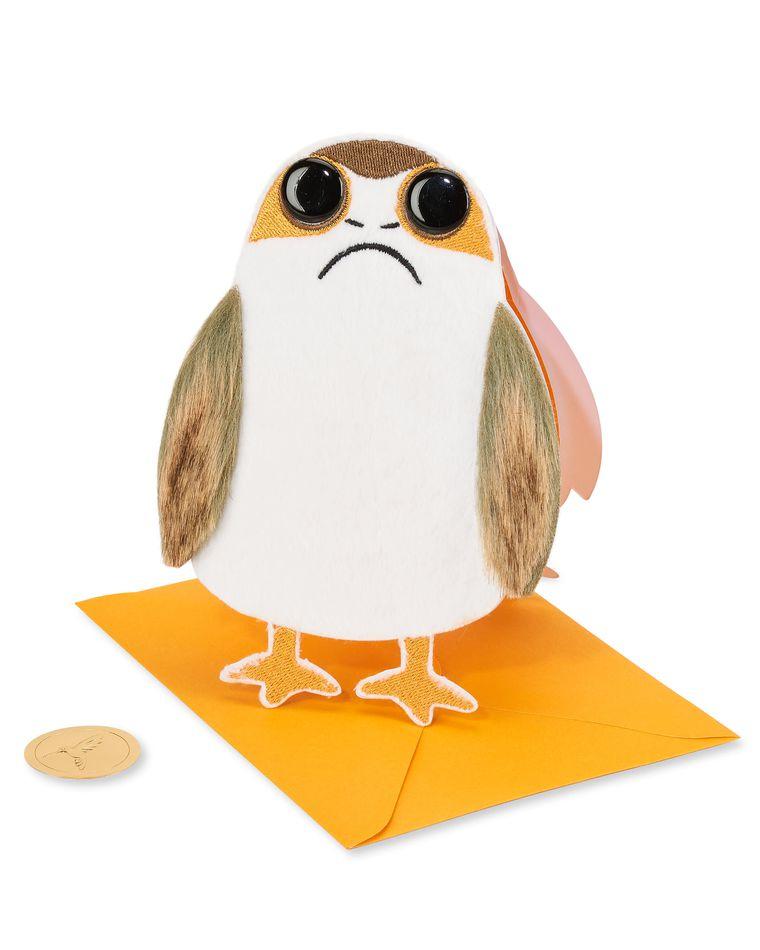 Porg Star Wars Birthday Greeting Card