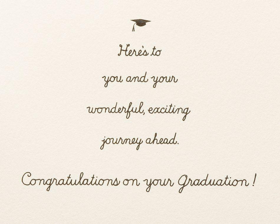 Grad in Car Graduation Greeting Card