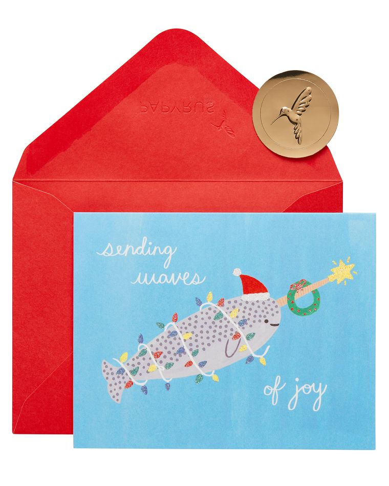 Narwhal Holiday Boxed Cards, 20-Count