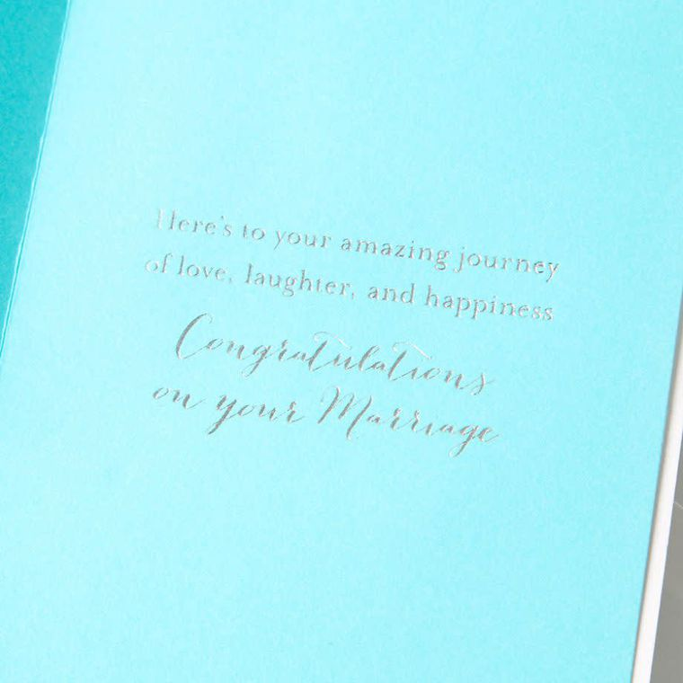 Getaway Car Wedding Greeting Card