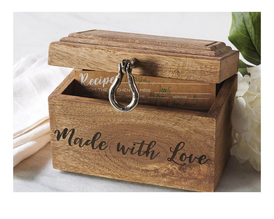 Mud Pie Bridal Recipe Box Set