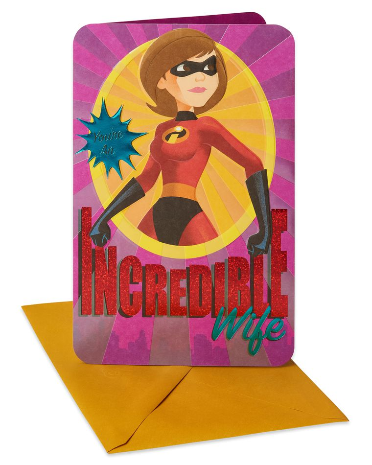 The Incredibles Mother's Day Card for Wife