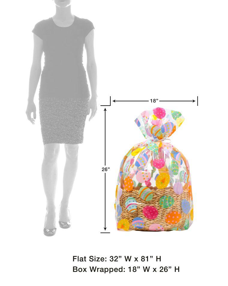 Easter Basket Cellophane Bag, 2-Count