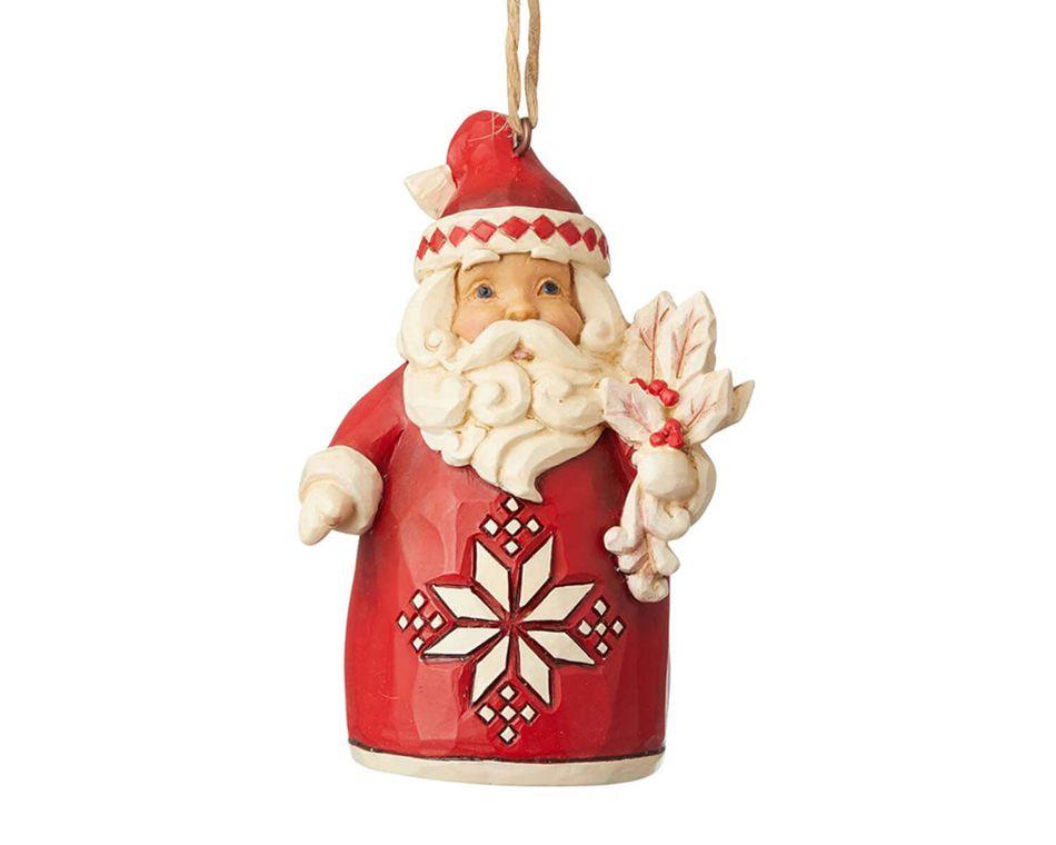 Jim Shore Nordic Noel Santa Ornament