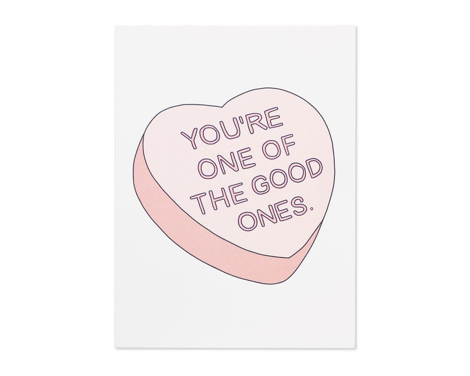 one of the good ones valentine's day card
