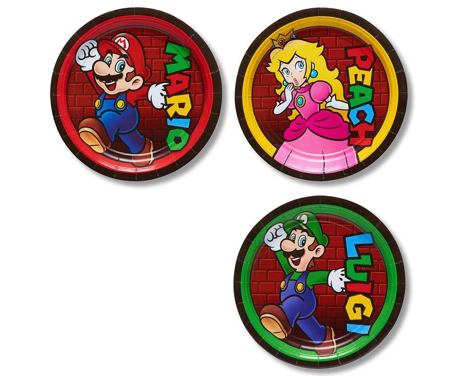 Super Mario Dessert Square Plate, 8 Count