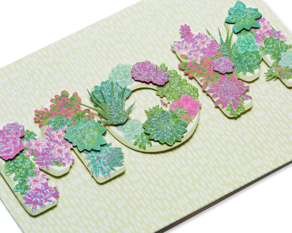 Floral Lettering Mother's Day Card