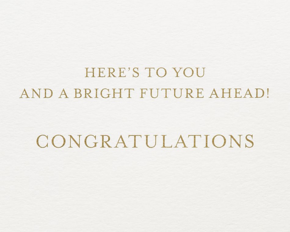 Bright Future Graduation Greeting Card