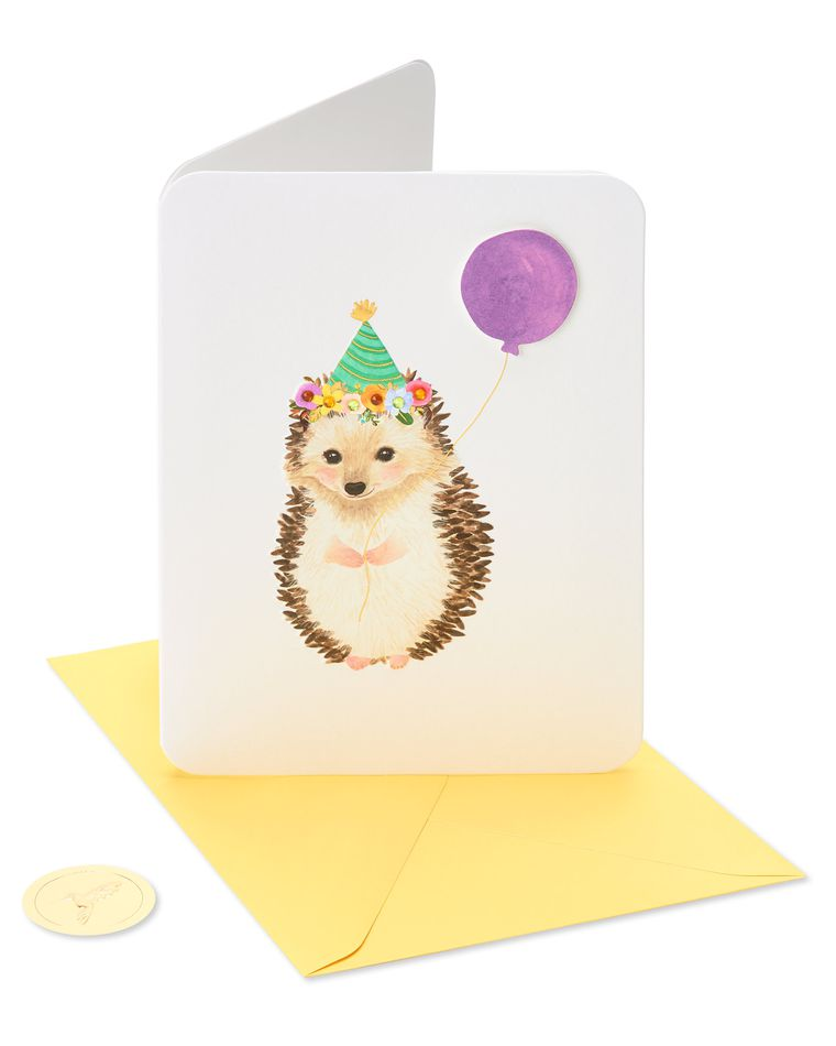 Hedgehog Birthday Greeting Card