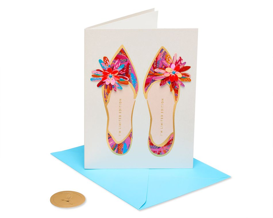 Limited Edition Shoes Birthday Greeting Card
