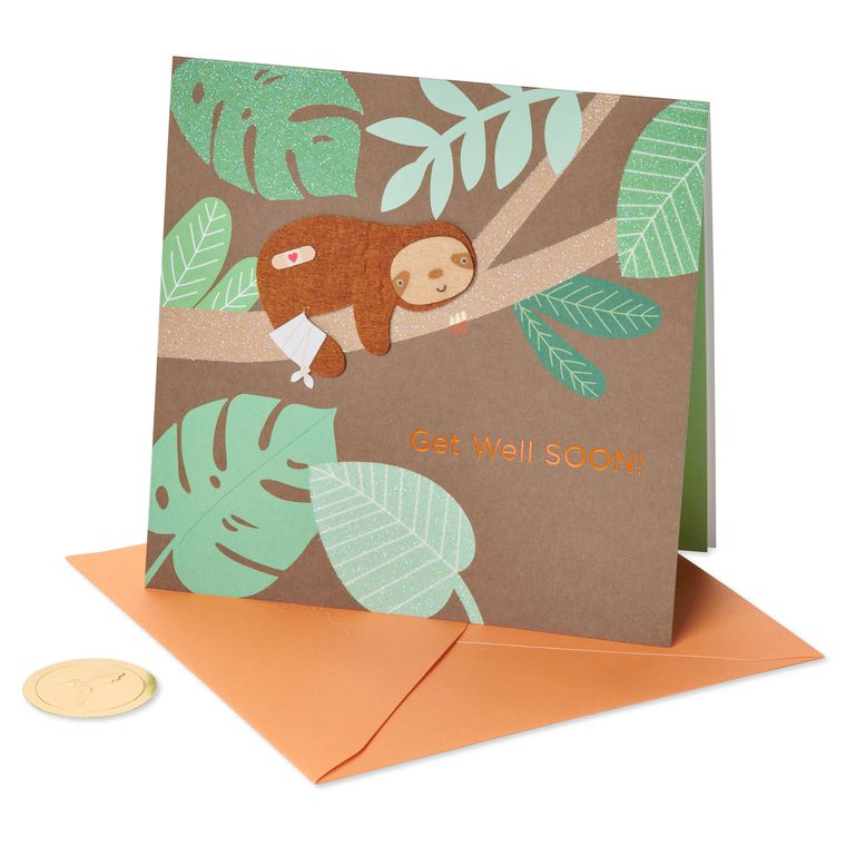 Sloth Get Well Soon Greeting Card