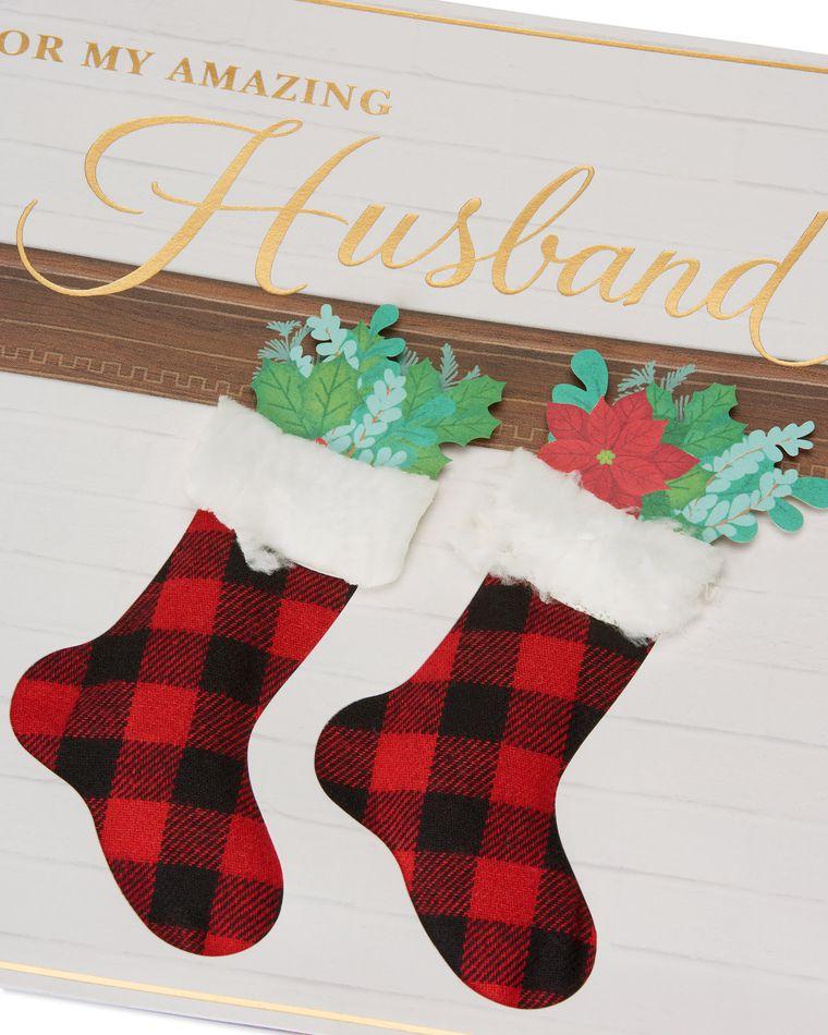 Stockings Christmas Card for Husband