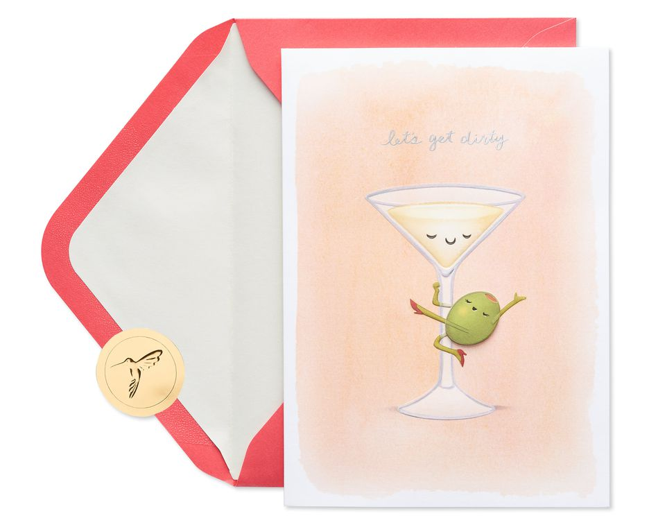 Dirty Martini Valentine's Day Greeting Card