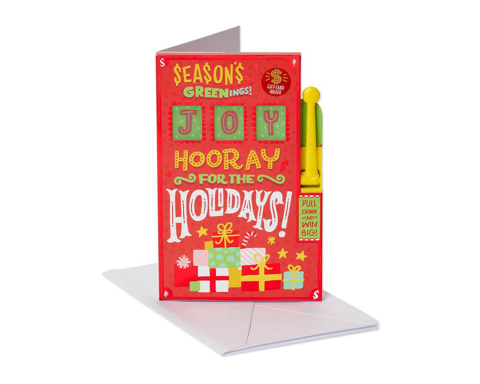 Seasons Greenings Christmas Greeting Card