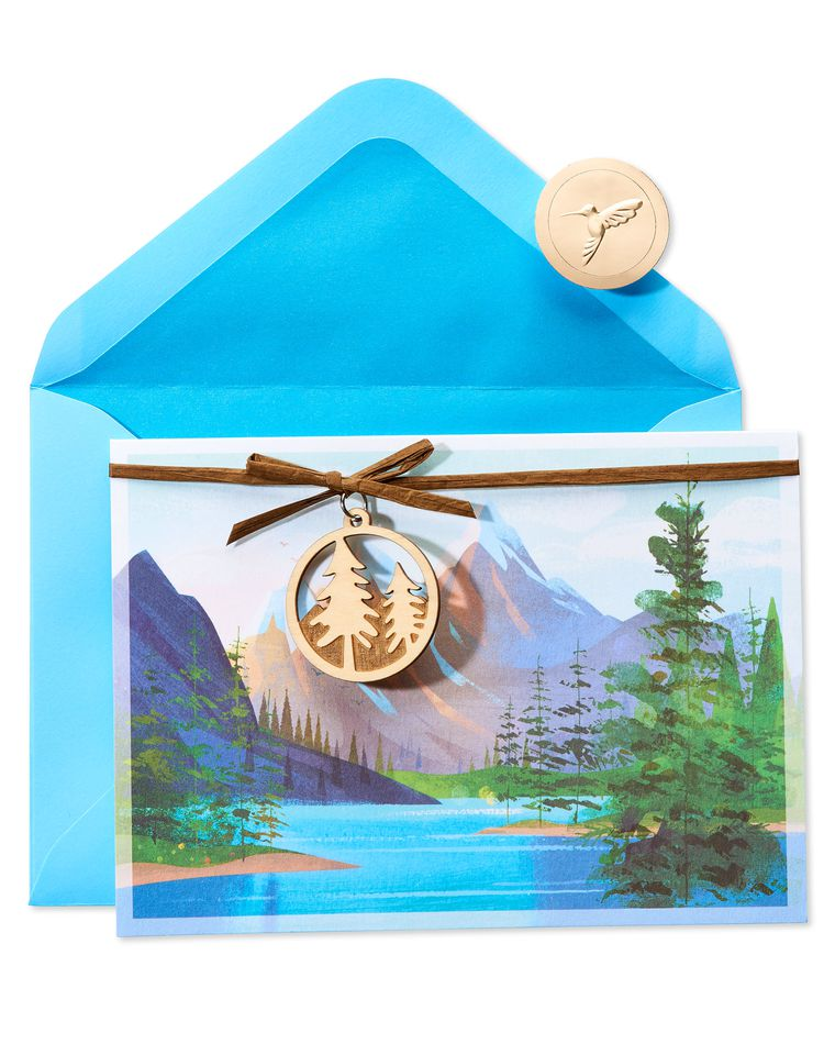 Mountain Range Birthday Greeting Card