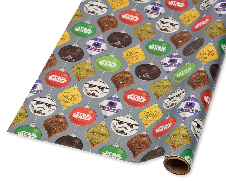 Star Wars Christmas Wrapping Paper, 40 Total Sq. Ft.