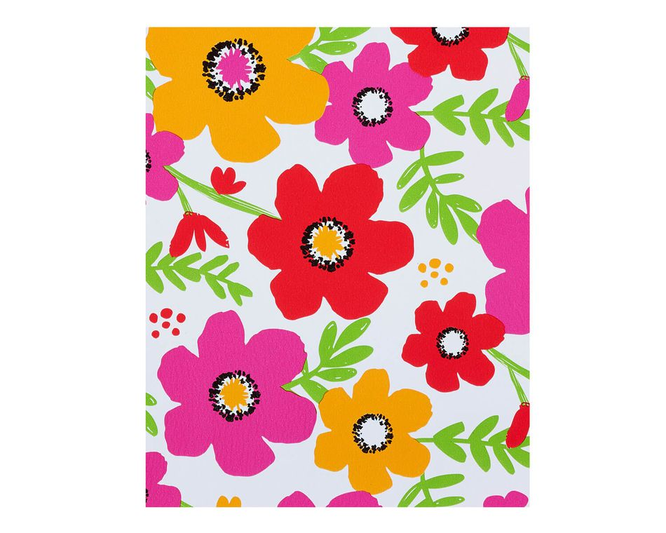 Wrapping Paper, Fun Floral Pattern, 2.5' x 3.3'