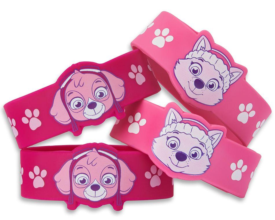 paw patrol pink rubber bracelets 4 ct