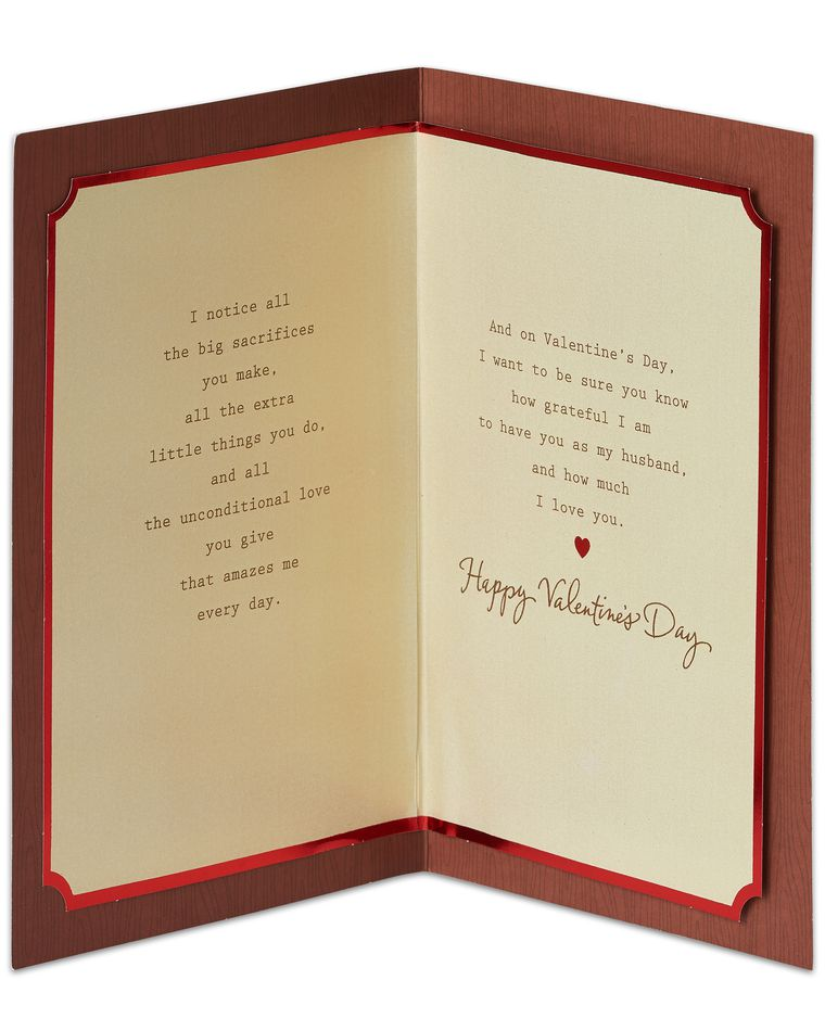 I Notice Valentine's Day Card for Husband