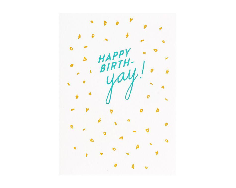 Birth Yay Birthday Card