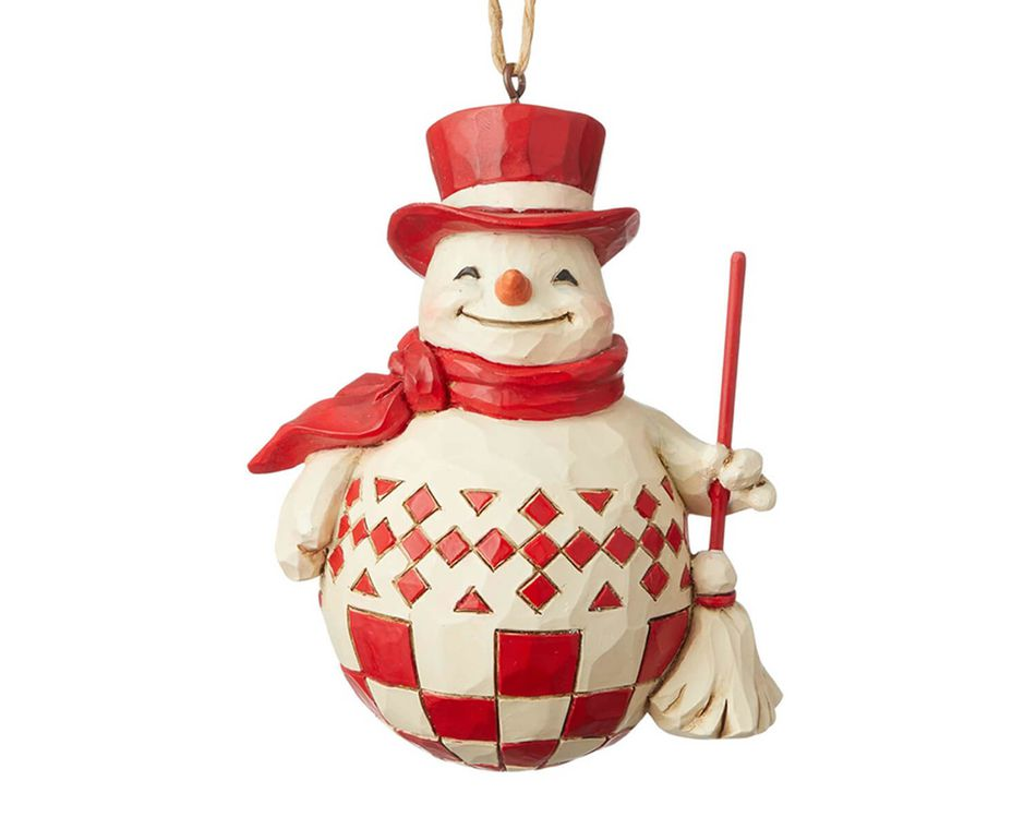Jim Shore Nordic Noel Snowman Ornament
