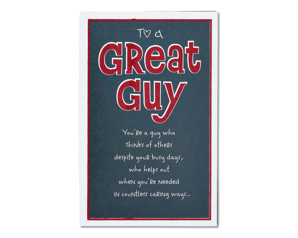 Great Guy Valentine's Day Card
