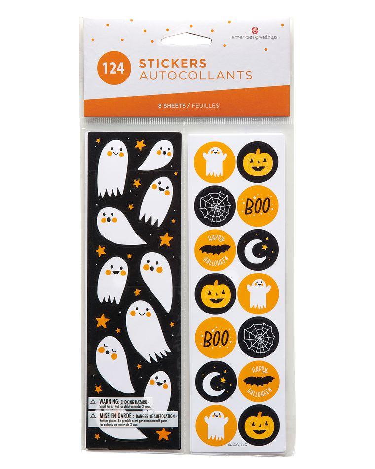 Festive Halloween Sticker Sheets, 124-Count