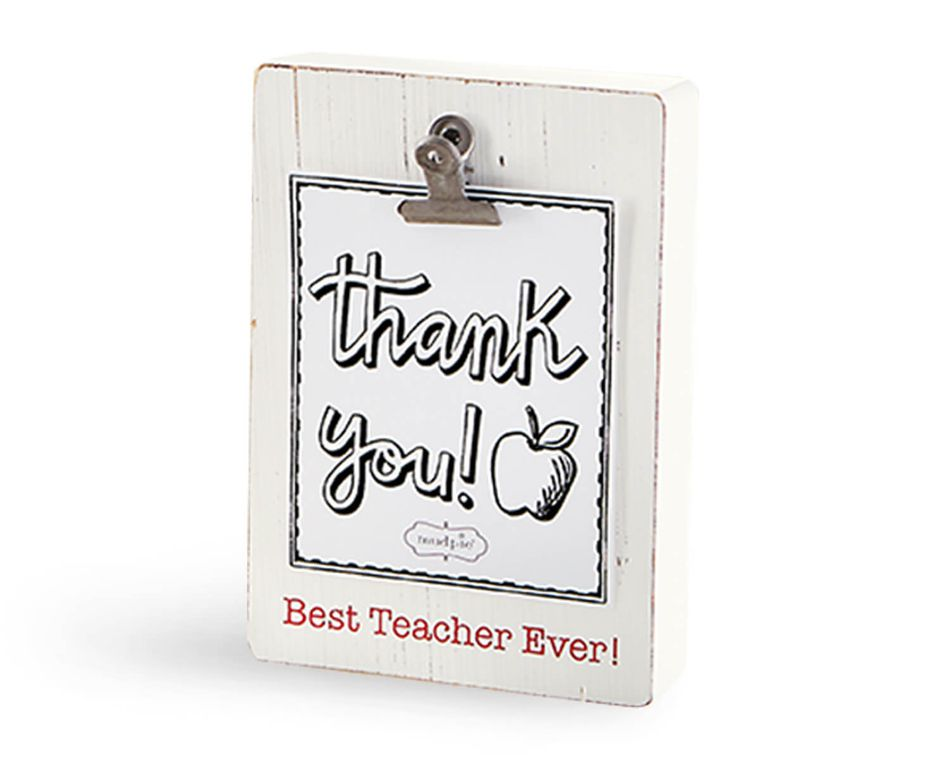 Mud Pie Best Teacher Clip Block Frame