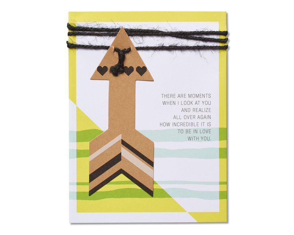 Romantic Arrow Birthday Card