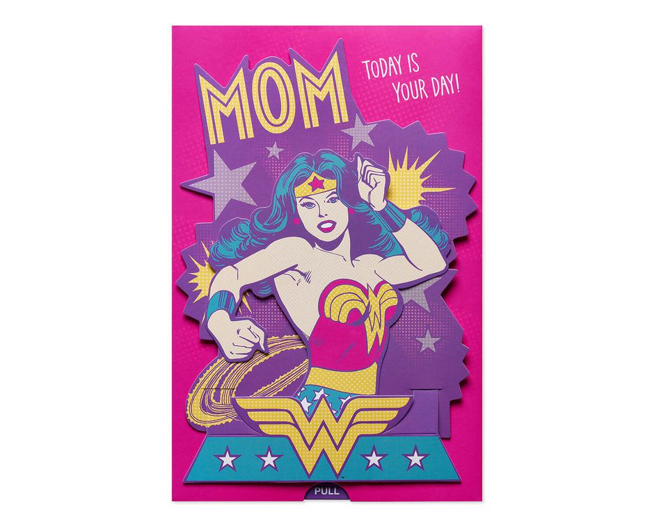 Wonder Woman Mothers Day Card