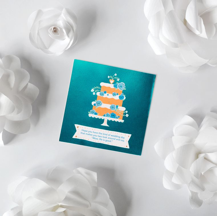 Floral Cake Wedding Card