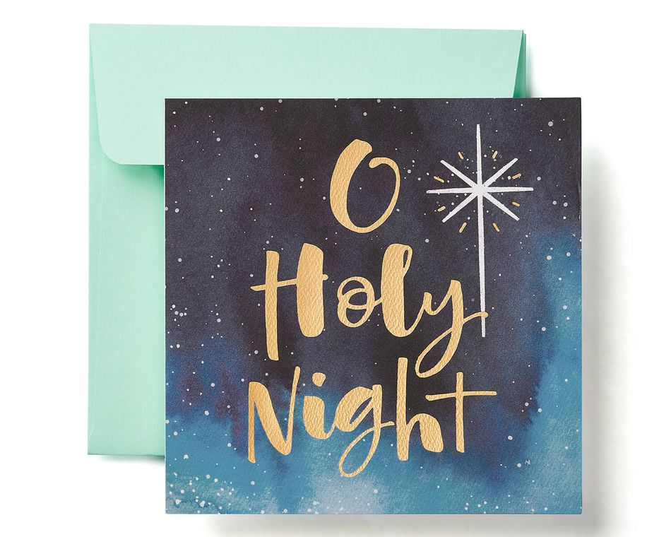 Religious Holy Night Christmas Greeting Card