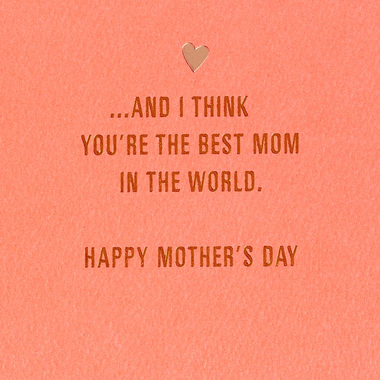 Love You Mother's Day Card