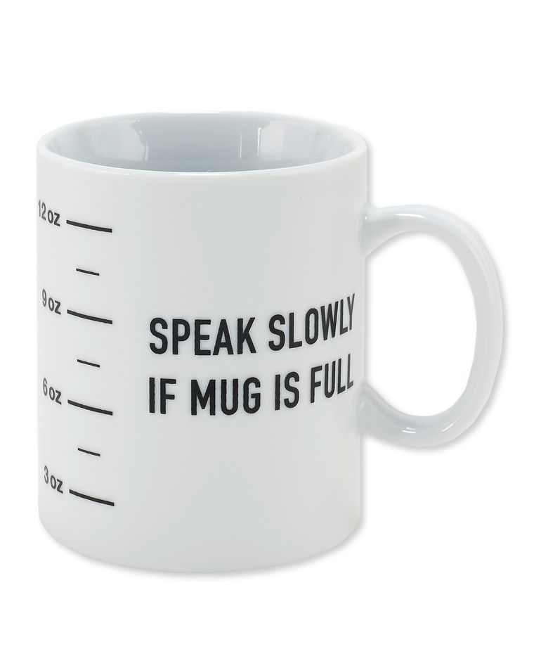 speak slowly coffee mug