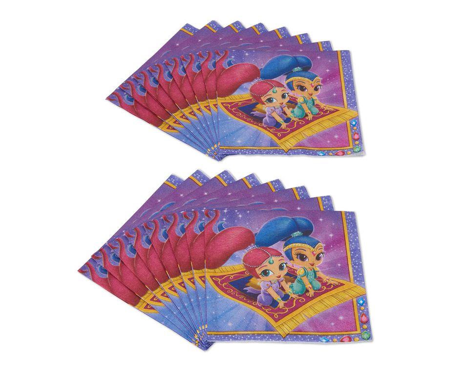 Shimmer and Shine Lunch Napkins- 16 Count