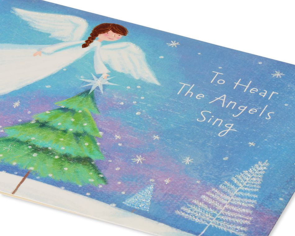 Angel with Trees Christmas Boxed Cards, 14 Count