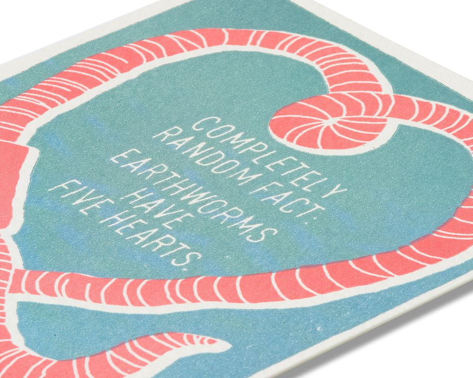 Earthworm Birthday Card