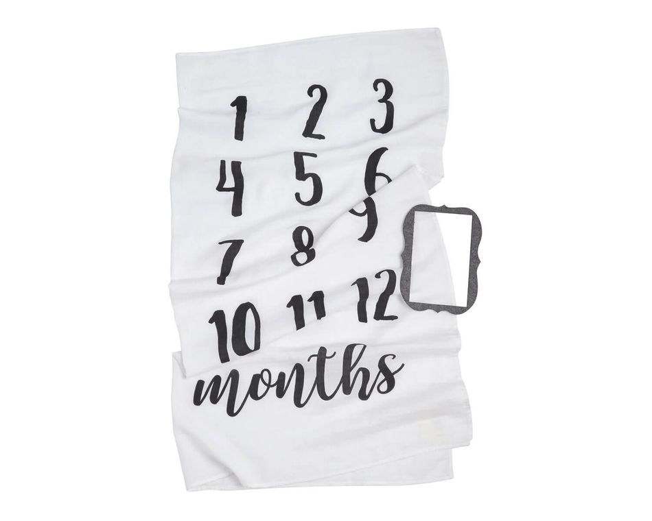 Mud Pie Baby Monthly Milestone Photo Blanket