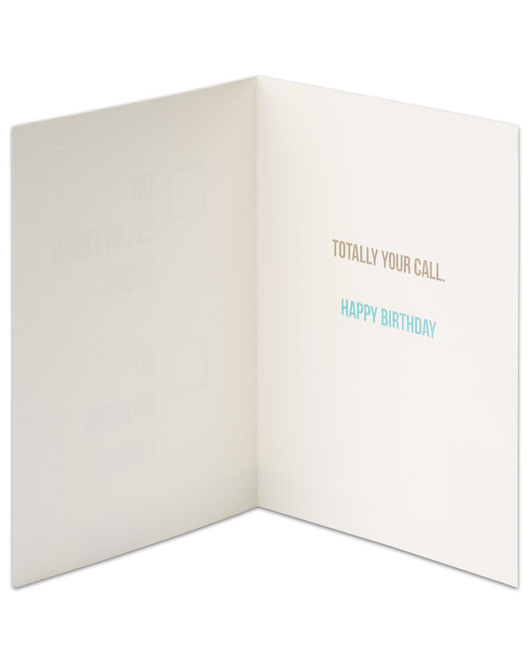 Your Call Birthday Card