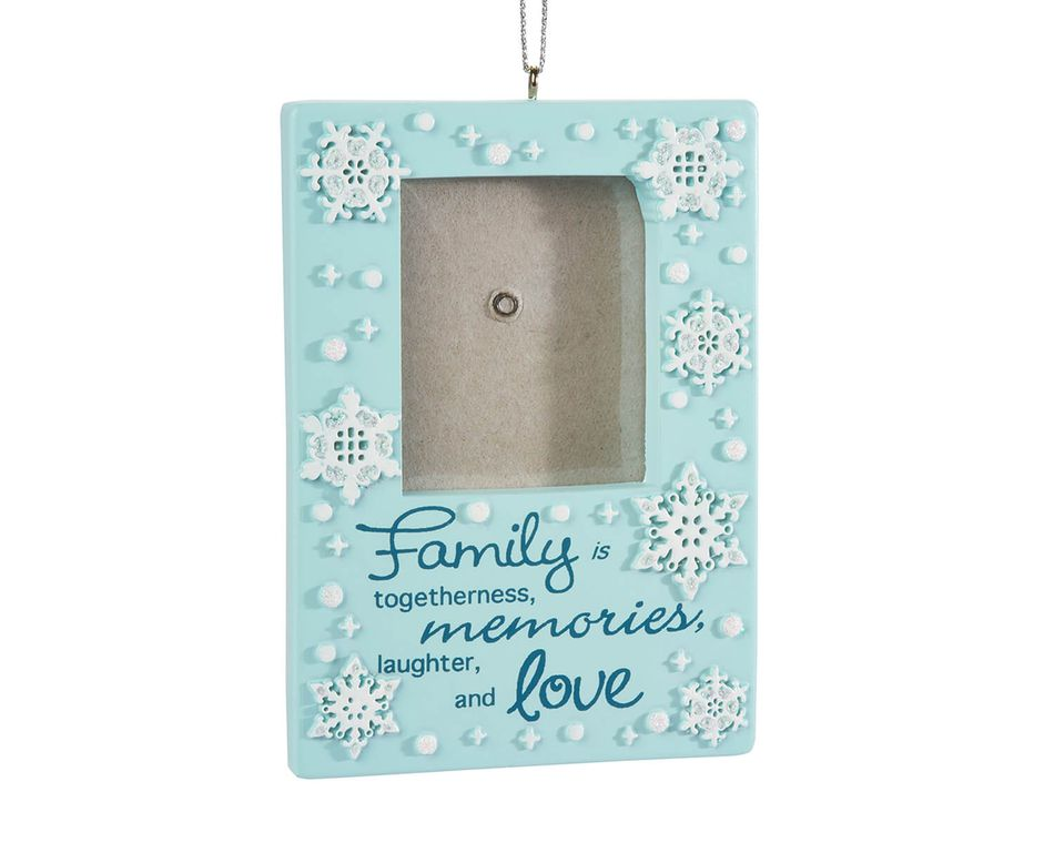 Family Frame Christmas Ornament