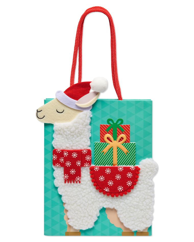 Christmas Llama Holiday Gift Bag