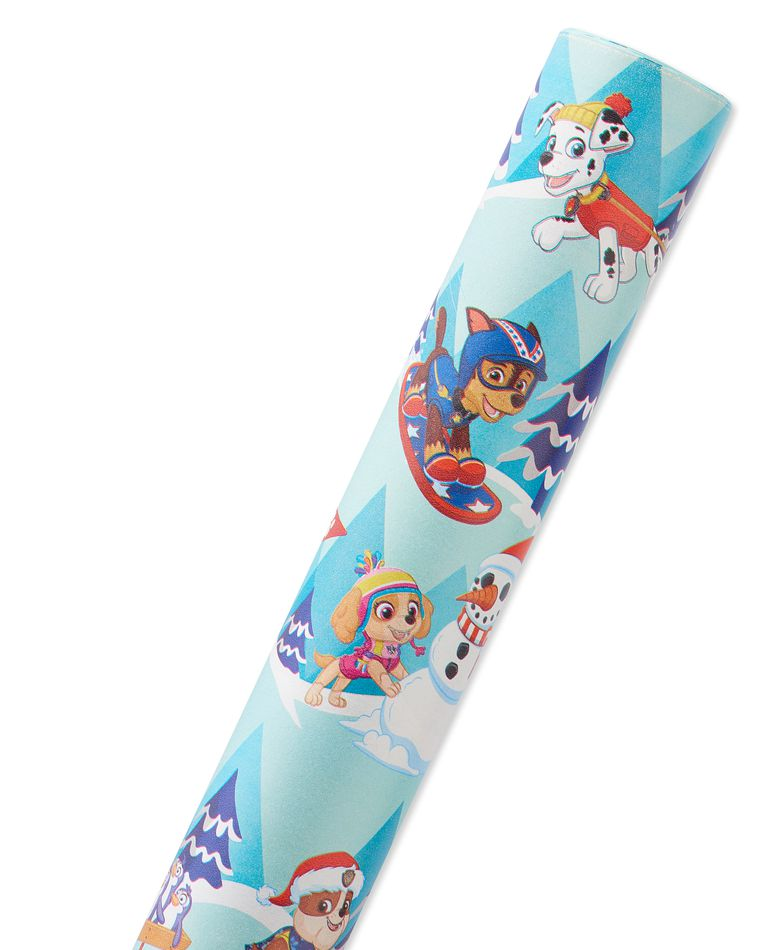 PAW Patrol Christmas Wrapping Paper, 40 Total Sq. Ft.