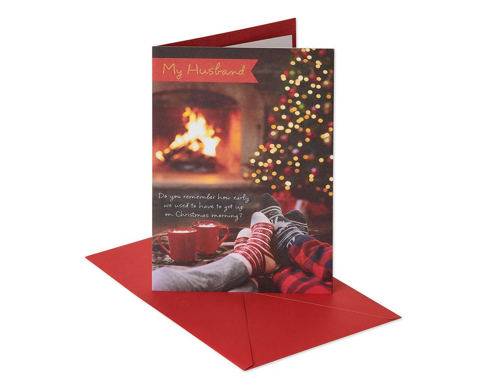 Fireplace Christmas Card for Husband