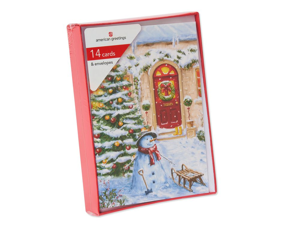Snowman Holiday Boxed Cards, 14 Count - American Greetings