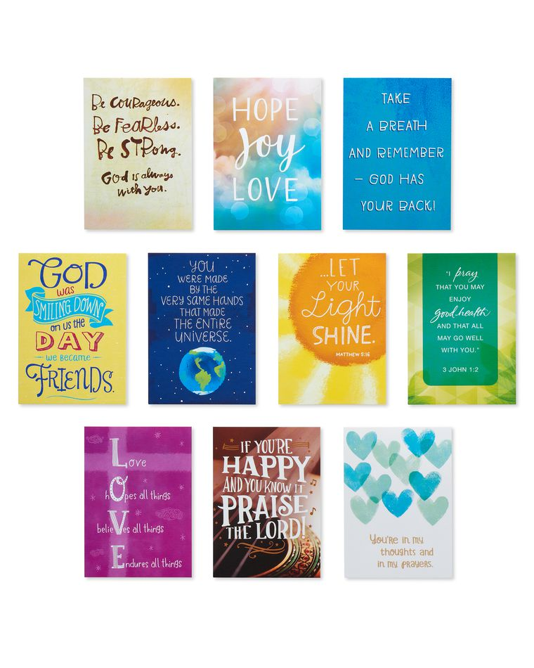 Faith and Joy Lunch Box Mini Notes, 40-Count