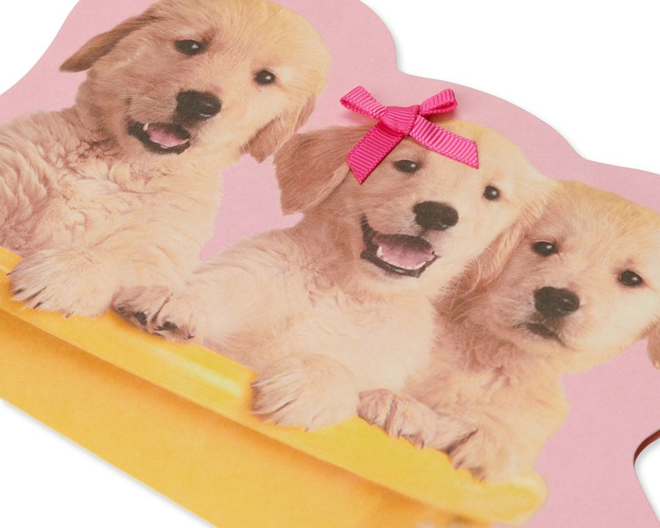 Puppies Mother's Day Card