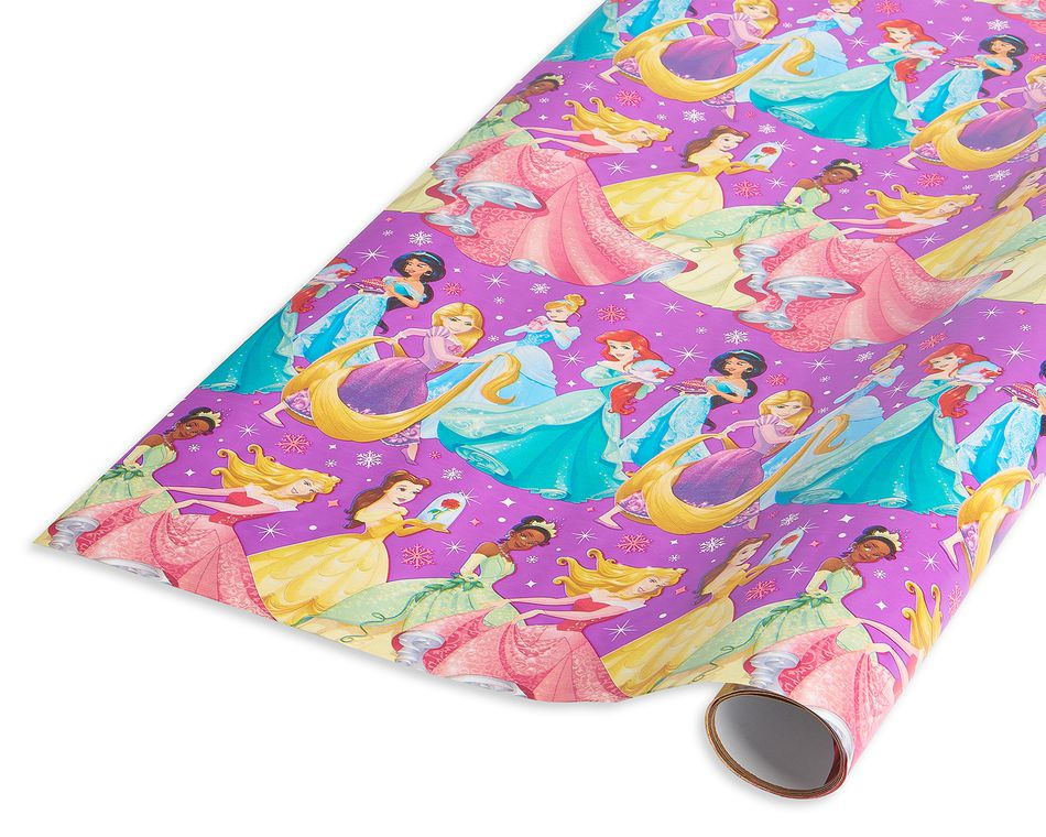 christmas wrapping paper disney princesses 20 sq ft
